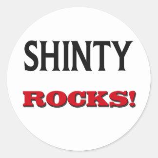 Shinty Rocks Round Sticker