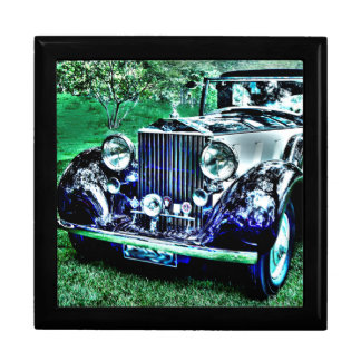 Shiny Antique Roll Royce Large Square Gift Box