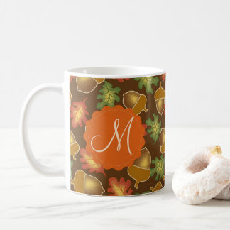 Shiny autumn atmosphere with acorns and oak leaf coffee mug