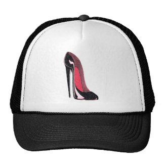 Shiny black stiletto shoe cap
