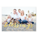 Shiny Blessings Holiday Photo Card Personalized Invite