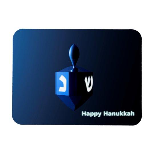 Shiny Blue Dreidel Rectangular Photo Magnet