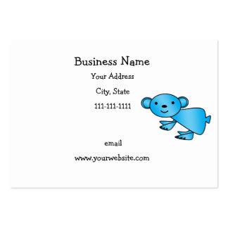 Shiny blue koala business card template