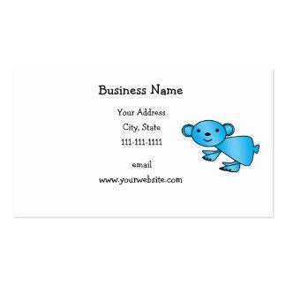 Shiny blue koala business card