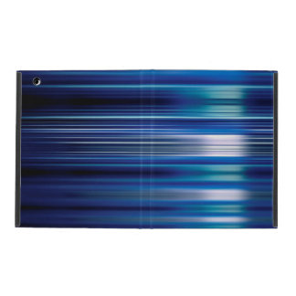 Shiny blue speed lines pattern iPad folio case