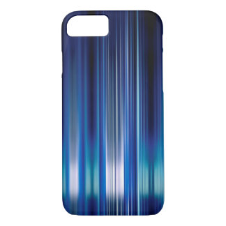 Shiny blue speed lines pattern iPhone 7 case
