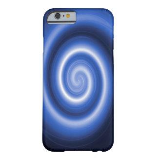 Shiny blue spiral pattern iphone 6 case
