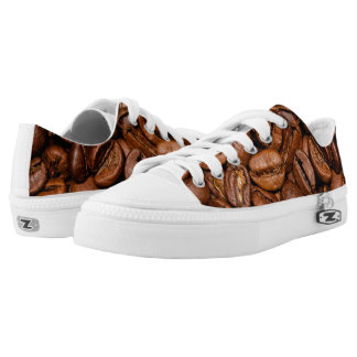 Shiny brown coffee beans low tops