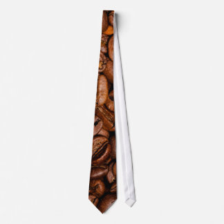 Shiny brown coffee beans tie