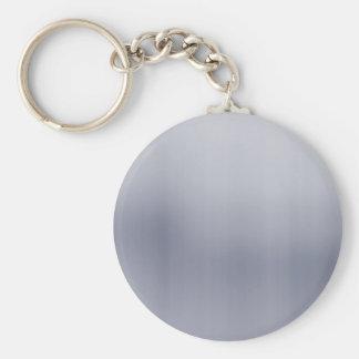 Shiny Brushed Aluminum Textured Key Ring