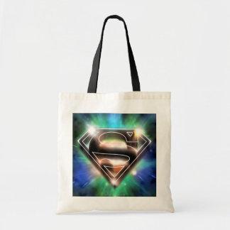 Shiny Burst Superman Logo Tote Bag