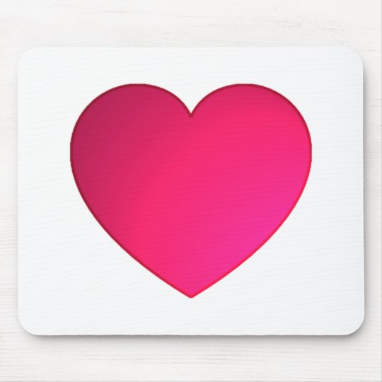Shiny Cherry Red Heart Mouse Mat