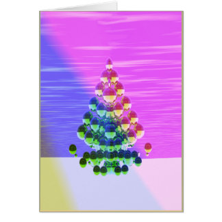 Shiny Christmas Tree Greetings Card