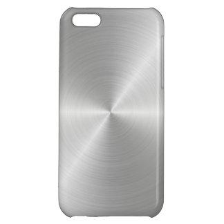 Shiny Circular Polished Metal Texture iPhone 5C Covers