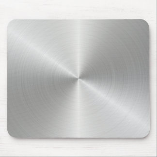 Shiny Circular Polished Metal Texture Mouse Mat