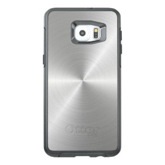 Shiny Circular Polished Metal Texture OtterBox Samsung Galaxy S6 Edge Plus Case