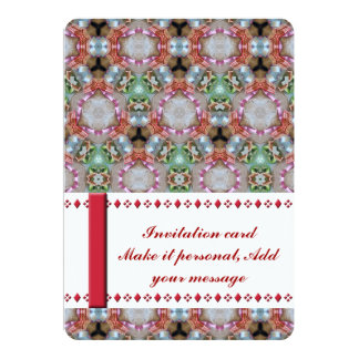 Shiny Colored Patterned Invitation Card