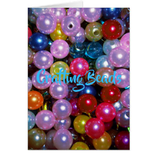 Shiny Colorful Beads Card