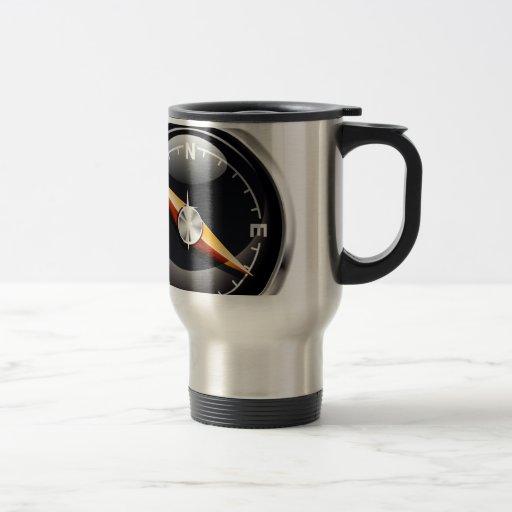 Shiny Compass Coffee Mugs