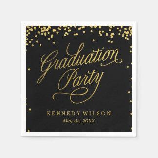 Shiny Confetti Editable Color Graduation Napkins Disposable Napkins