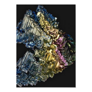 Shiny crystals of Native bismuth Card
