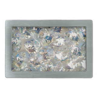 Shiny Crystals Pewter Belt Buckle