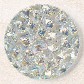 Shiny Crystals Sandstone Drink Coaster