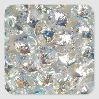 Shiny Crystals Square Stickers