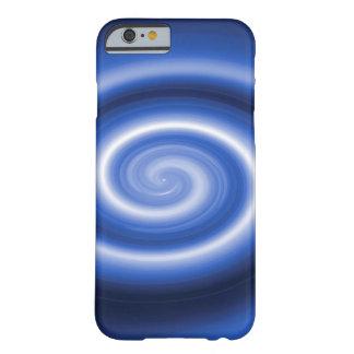 Shiny dark blue spiral iphone 6 case