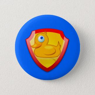 Shiny Defender Duck 6 Cm Round Badge