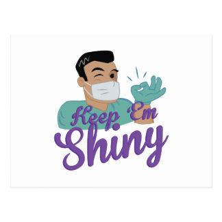 Shiny Dentist Postcard