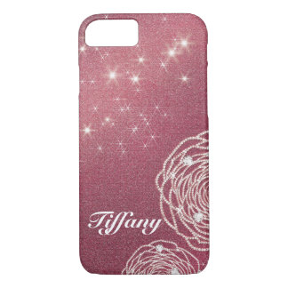Shiny Diamond Rose iPhone 8/7 Case