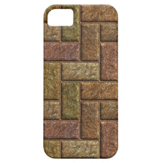Shiny digital bricks pattern bronze and copper iPhone 5 cover