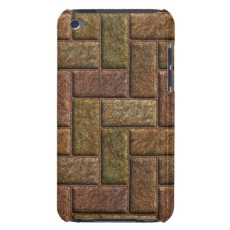 Shiny digital bricks pattern bronze and copper iPod touch case