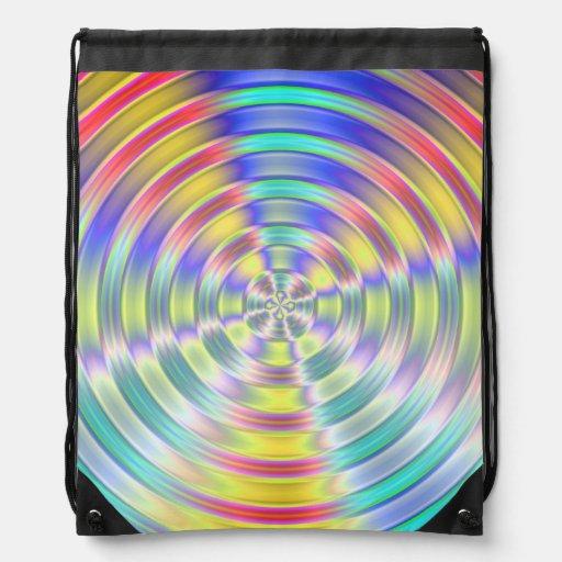 Shiny Disc Cinch Bags