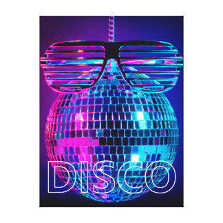 Shiny disco ball canvas print