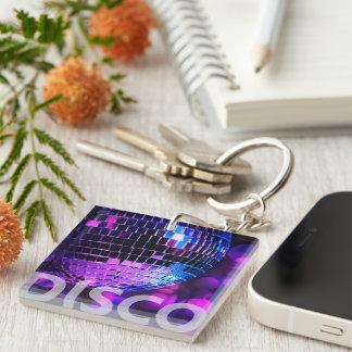 Shiny disco ball key ring