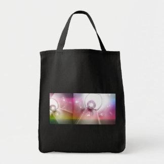 shiny disco balls tote bags