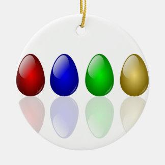 Shiny Easter Eggs Christmas Ornament