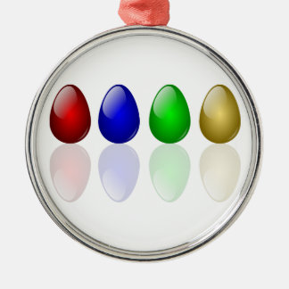 Shiny Easter Eggs Christmas Ornament