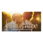 Shiny Faith & Hope Holiday Photo Card Photo Card