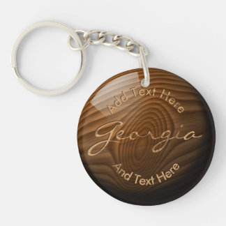 Shiny Faux Wood Knot•Custom Key Ring