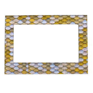 Shiny Fish Scales Effect Pattern Gold Silver Magnetic Frame