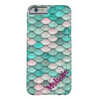 Shiny Fish Scales Effect Pattern Green Pink Barely There iPhone 6 Case