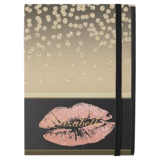 "Shiny Foil Confetty Or Diamond ,Lips-Personalized iPad Pro 12.9"" Case"