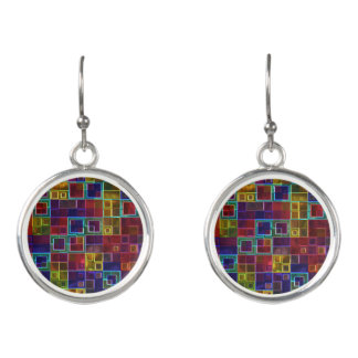 Shiny Futuristic Squares by Julie Everhart Earrings