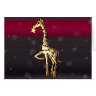 Shiny Giraffe Card