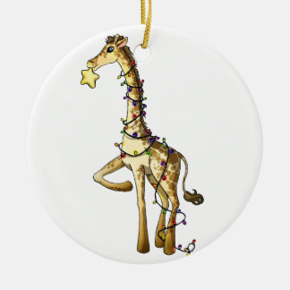 Shiny Giraffe Christmas Ornament