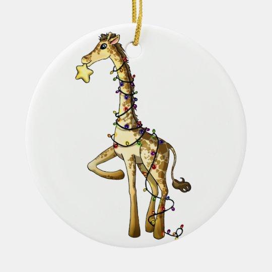 Shiny Giraffe Christmas Ornament