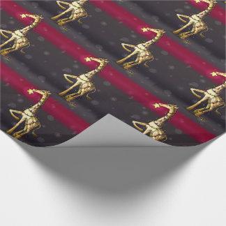 Shiny Giraffe Wrapping Paper